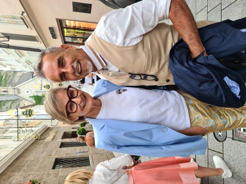 Immer wieder schön, Inhaber und Geschäftsführer der Luis Trenker Stores Michi Klemera zu treffen. (Foto Hedi Grager)
