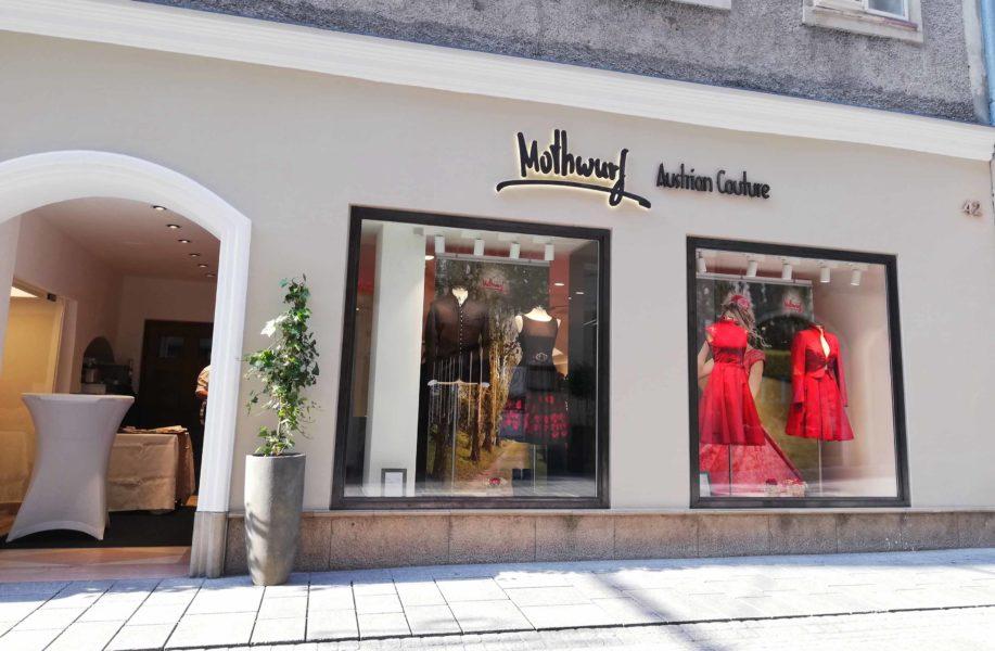 Nach Graz, Wien und München istMothwurf jetzt auch in der Salzburger Hauptstadt in absoluter Bestlage mit einem eigenen Shop vertreten. (Foto Dow)