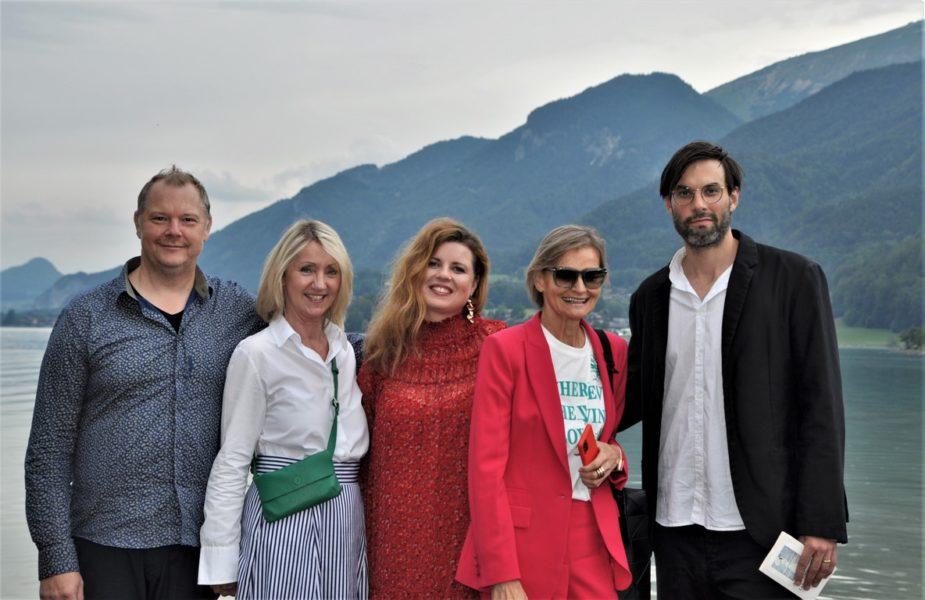 Musiker Reinhardt Winkler, Gabriele Zillner, Agentur Zillner, Jazz-Stimme Simone Kopmajer, Journalistin Hedi Grager und Schauspieler Max Simonischek. (Foto Reinhard A. Sudy)