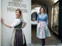 Großes Beitragsfoto:Theresa Schöffel ist bekannt für ihre Dirndl und die lebhaften Designs. Jetzt auch in Kooperation mit dem Steirischen Heimatwerk. (Foto Christian Jungwirth)