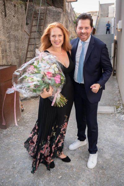 Premiere der Oper Turandot im Steinbruch St. Margarethen im Burgenland. Daniel Serafin mit seiner Schwester Martina Serafin, die die Titelrolle singt. (Foto Andreas Tischler)