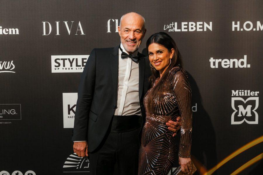DUFTSTARS Gala 2021: Schauspieler- und Unternehmerehepaar Viktoria & Heiner Lauterbach. (Foto Philipp Lipiarski)
