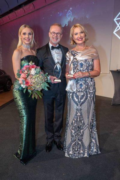 Schmuckstars Awards 2021: Sieger 'Schmuckstück des Jahres' sind Christoph Schneider und Andrea Norz (Juwelier NORZ). (Foto Andreas Tischler)