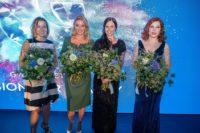 90-Jahr Gala GW Cosmetics im Palais Liechtenstein. Beatrice COX-RIESENFELDER, Christine REILER, Anna, VEITH, Teresa VOGL. (Foto Andreas Tischer)