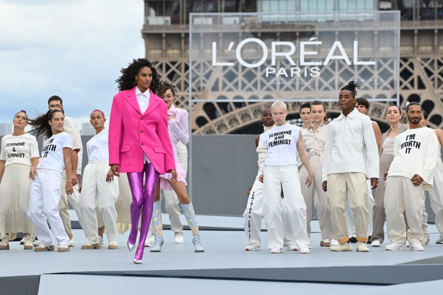"""Le Defile L'Oreal Paris 2021"": Cindy Bruna. (Photo by Pascal Le Segretain/Getty Images For L'Oreal)"